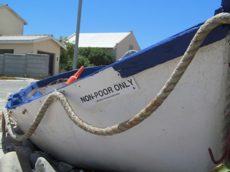 The lagoon has been declared a Marine Protected Area (MPA), which has its aim to restrict certain activities to protect the marine life in the lagoon, and it has been divided into three Zones, namely Zone A, B and C. Zone C is a complete no take zone, which means that no-one is allowed to catch fish in Zone C, it is also an area which is reserved for breeding and replenishment of the fish stock. The traditional net-fishers have been restricted to only catch fish in Zone A, but, a few white fishers, due to an agreement they signed with the Parks Board during the last years of apartheid, are allowed to fish in Zone B. Traditional fishers of Langebaan would prefer that they be allowed to fish in Zone B, since there is a larger stock of harders, and because they do not target fish that is in need of protection that is found in Zone B, as the recreational fishers does. Traditional fishers have waged a protracted struggle to have their rights to fish in Zone B restored, because at the moment they must compete with recreational fishers, kite flyers, scuba divers and the general holiday maker in Zone A.